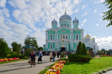 Trinity Cathedral and Transfiguration Cathedral in Holy Trinity Seraphim-Diveevo convent in the village Diveevo, Russia