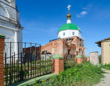 The destroyed Holy Trinity Church in the village Karacharovo near Muro