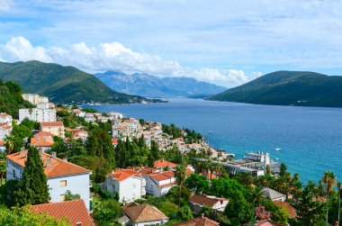 View of Herceg Novi and the Bay from fortress wall, Montenegro