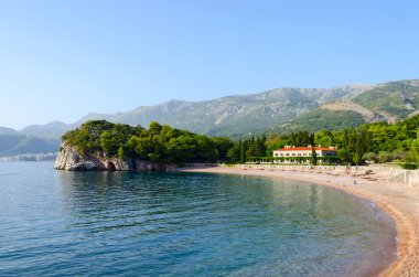 The famous King's Beach, Milocer, Montenegro