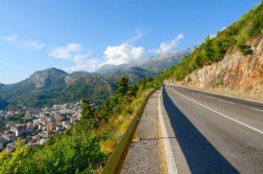 Mountain road over the coast of Budva, Montenegro