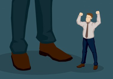 Employee Angry with Higher Management Vector Cartoon Illustratio
