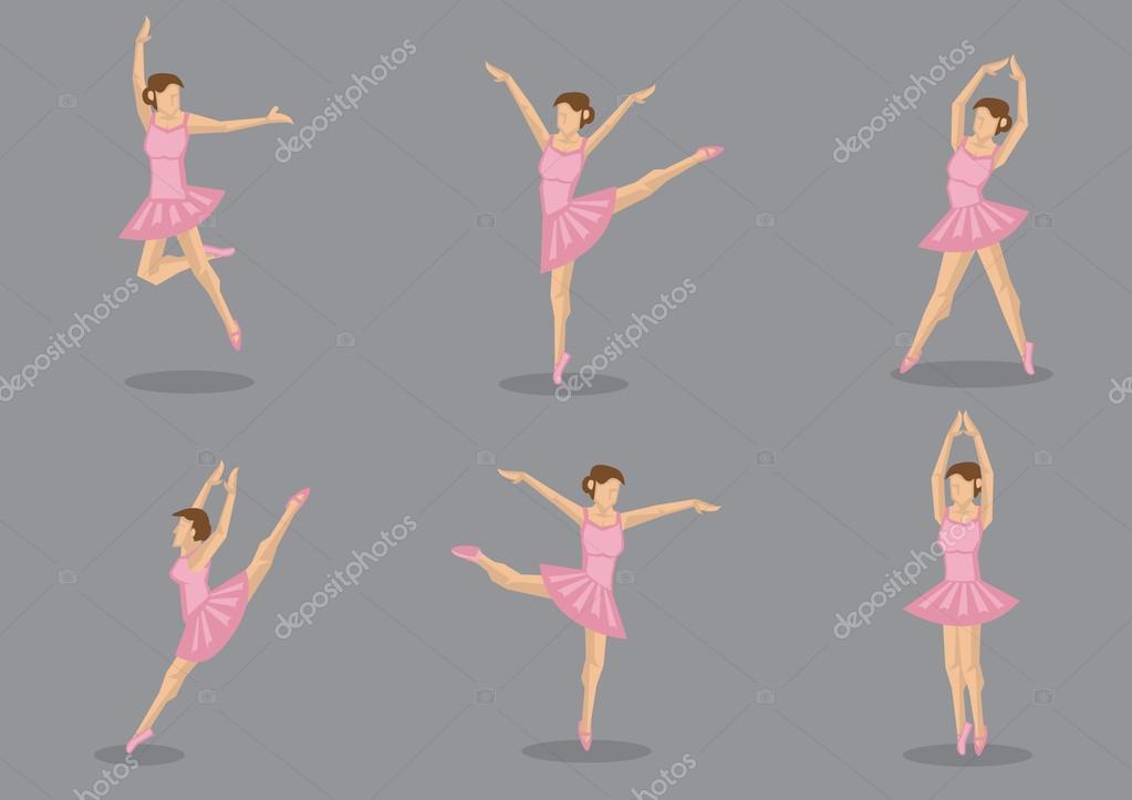 Pink Tutu Ballerina Vector Icon Set — Stock Vector © hofred