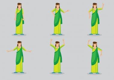 Indian Woman Wearing Sari Set