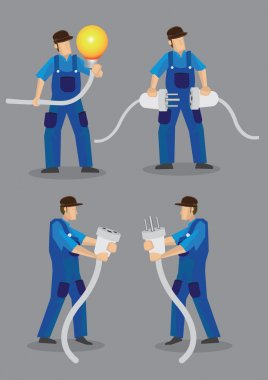 Funny Electrician Character Set