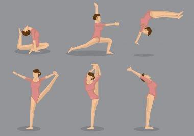 Flexible Gymnast Doing Gymnastics