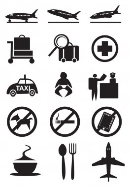 Airport Icon and Signs