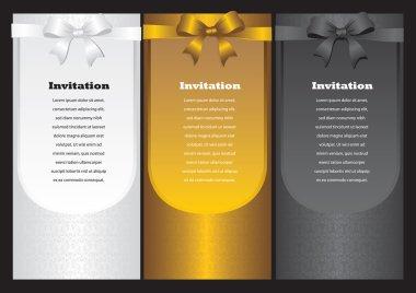 Luxury vertical invitation cards
