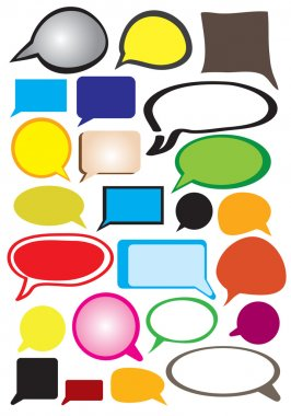 Fancy Speech Balloons Vector Illustration Collection