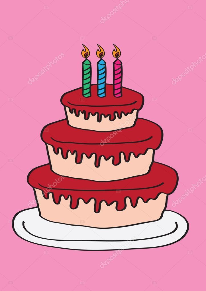 Three Tier Birthday Cake Three Tier Birthday Cake With Three
