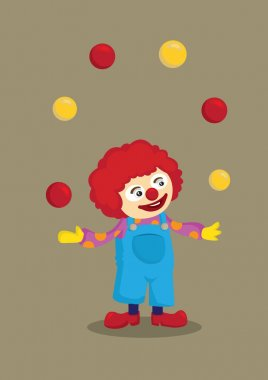 Cartoon Juggling Clown