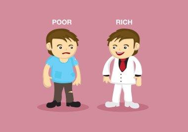 Cartoon Rich  and Poor Man