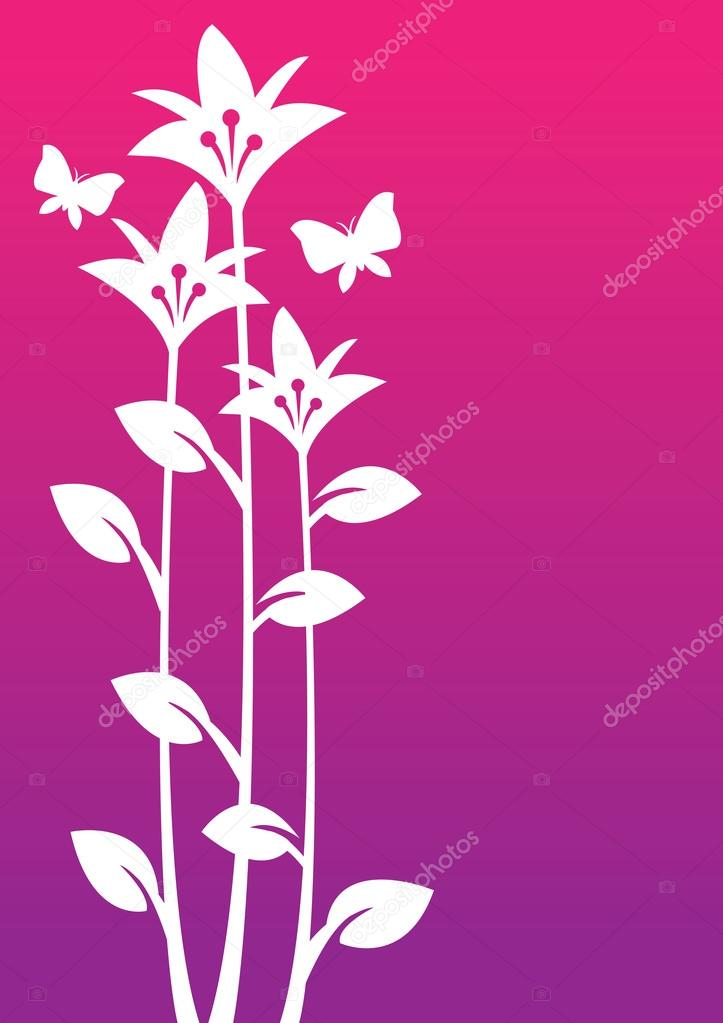 Vector Illustration of wild flowers