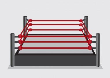 Wresting Ring Vector Illustration