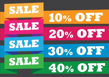 Sales Banner with Promotional Messages Vector Illustration