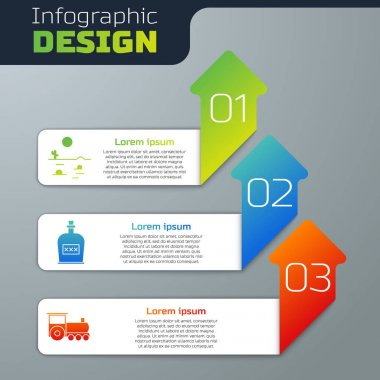 Set Desert landscape with cactus, Alcohol drink Rum bottle and Retro train. Business infographic template. Vector. icon