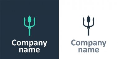 Logotype Neptune Trident icon isolated on white background. Logo design template element. Vector.