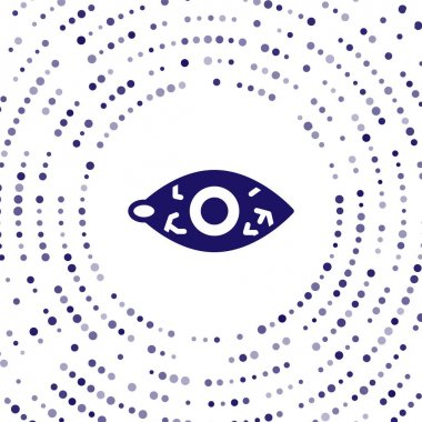 Blue Reddish eye due to viral, bacterial or allergic conjunctivitis icon isolated on white background. Abstract circle random dots. Vector.