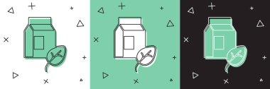 Set Vegan milk icon isolated Set background. Vegetarian product.  Vector. icon