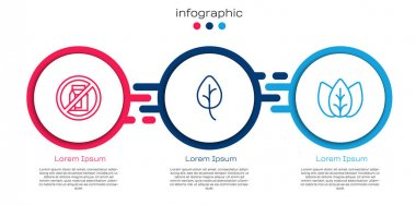 Set line No pack of milk, Leaf or leaves and . Business infographic template. Vector icon
