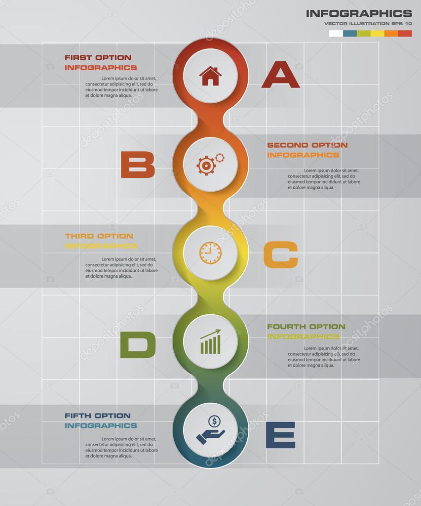 Präsentationsvorlage von abstrakten 5 Schritte Unternehmen ...