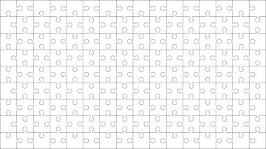 Jigsaw puzzle blank template or cutting guidelines