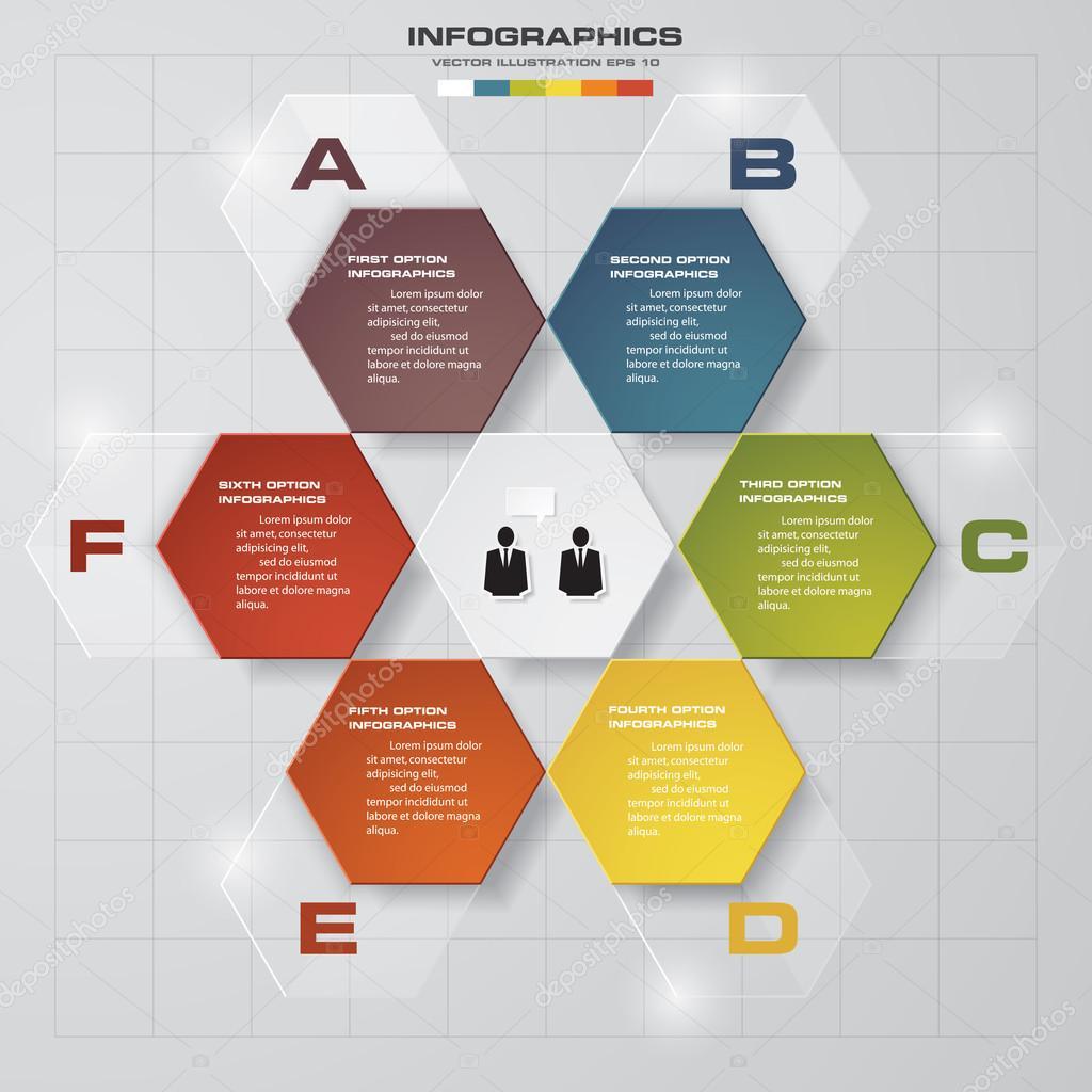 Zusammenfassung 6 Stufen Business Präsentationsvorlage — Stockvektor ...