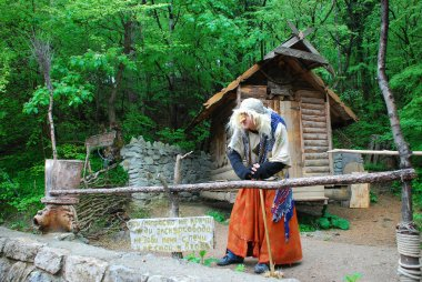 Fairytale character Baba Yaga