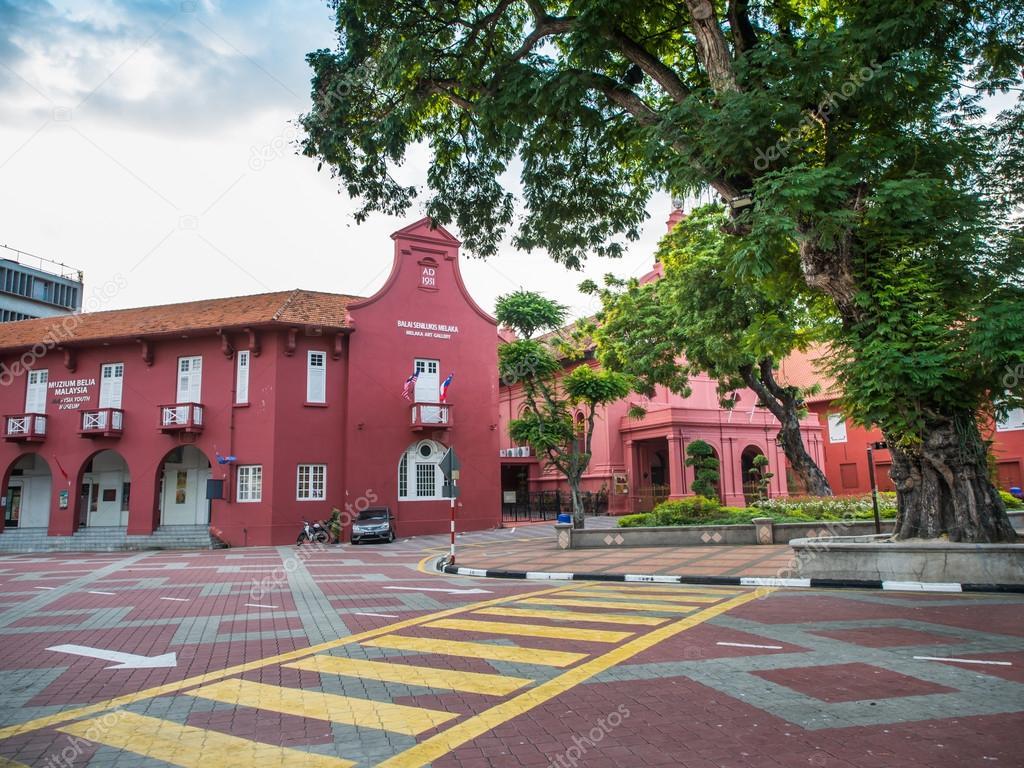 Malaca, Malásia - 29 de fevereiro  Galeria de arte de Malaca na Praça de 5704936f64