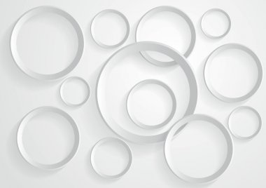 Abstract gray circle background