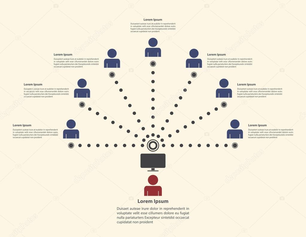 Soziales Netzwerk Infographik Vorlage — Stockvektor © ingka.d.jiw ...