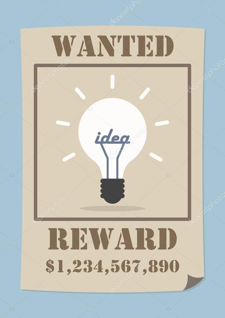 Wanted Poster Ideas Wanted Poster With Light Bulb Idea