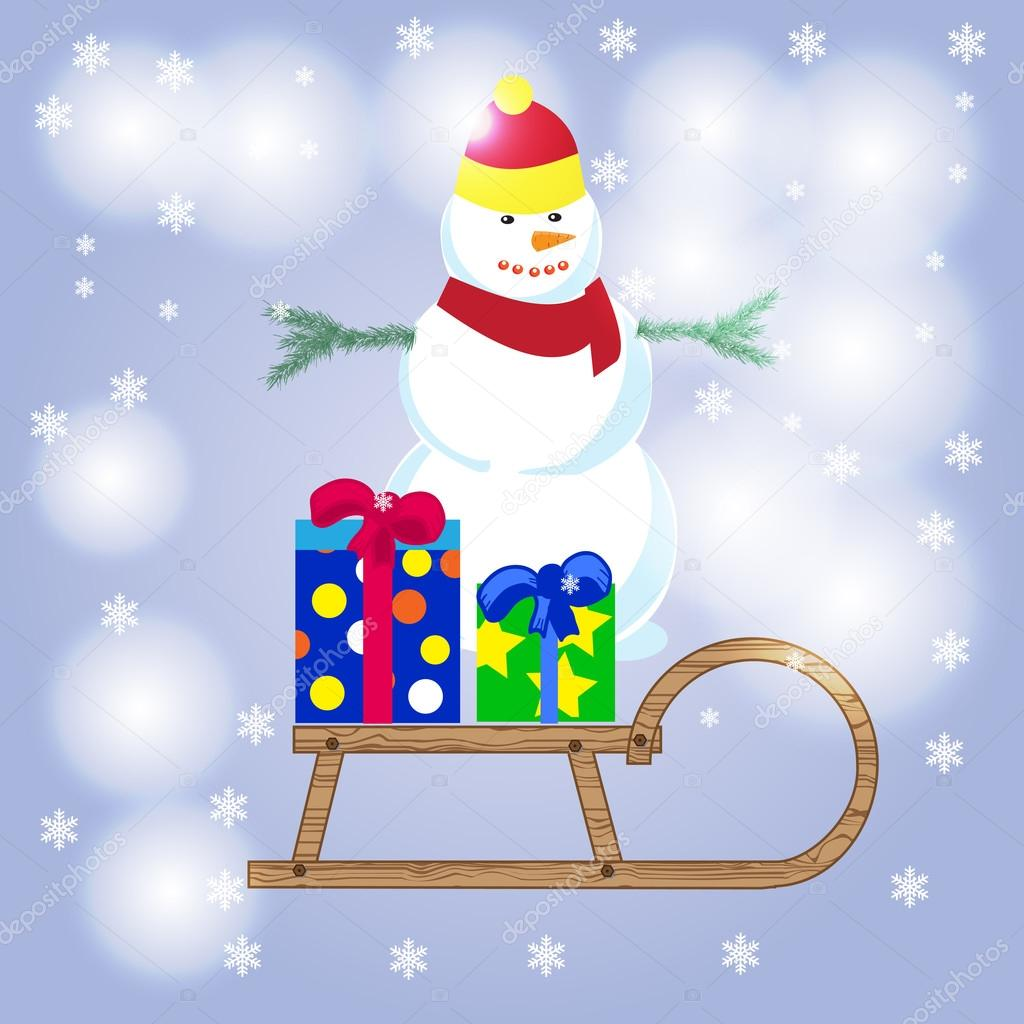 Frohe Weihnachten, glücklich Schneemann Schneemann, Schneemann ...