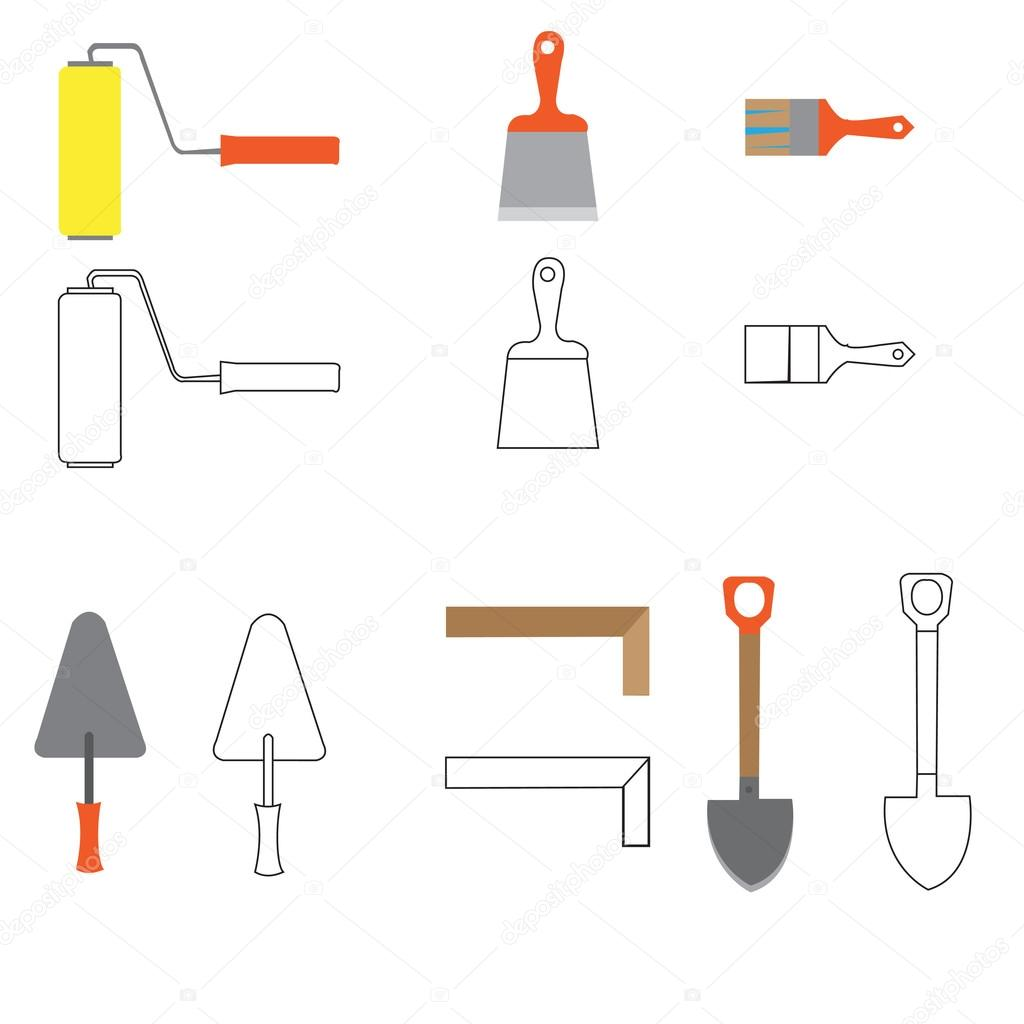 Auto, Bau Maschinen, Vektor-Abbildung-flach-Symbol — Stockvektor ...