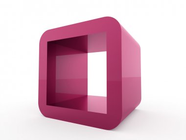 Abstract geometric cubes concept rendered