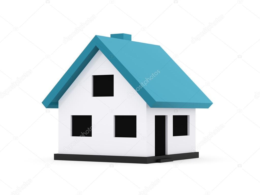 im genes casas peque as animadas un peque o casas con techo azul sobre un fondo blanco foto. Black Bedroom Furniture Sets. Home Design Ideas