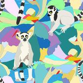 Fotografie lemur, seamless wallpaper