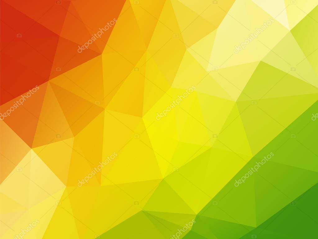 geometric background red yellow green � stock vector