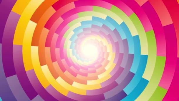 rotazione a spirale circolare colorato sfondo ciclo infinito