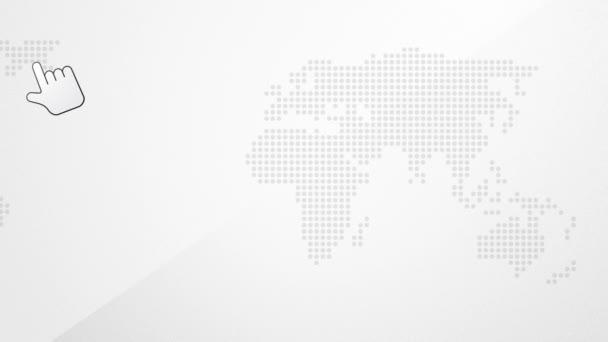 globální barva mapa světa s vrcholem kontinent