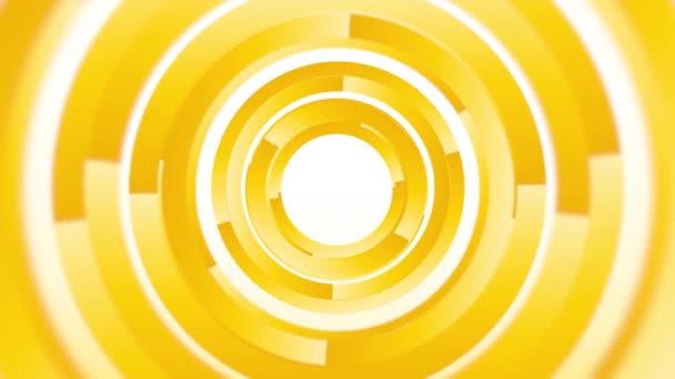 absztrakt háttér sárga, forgó körök végtelen hurok