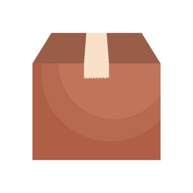Icon of carton box over white background, colorful design, vector illustration icon