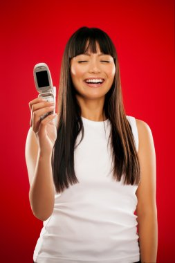 Asian Girl With Phone