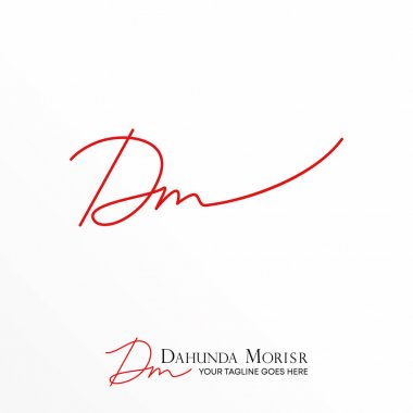 Latin letter DM free logo vector stock. Art abstract design concept. Can be used as a symbol related to initial.