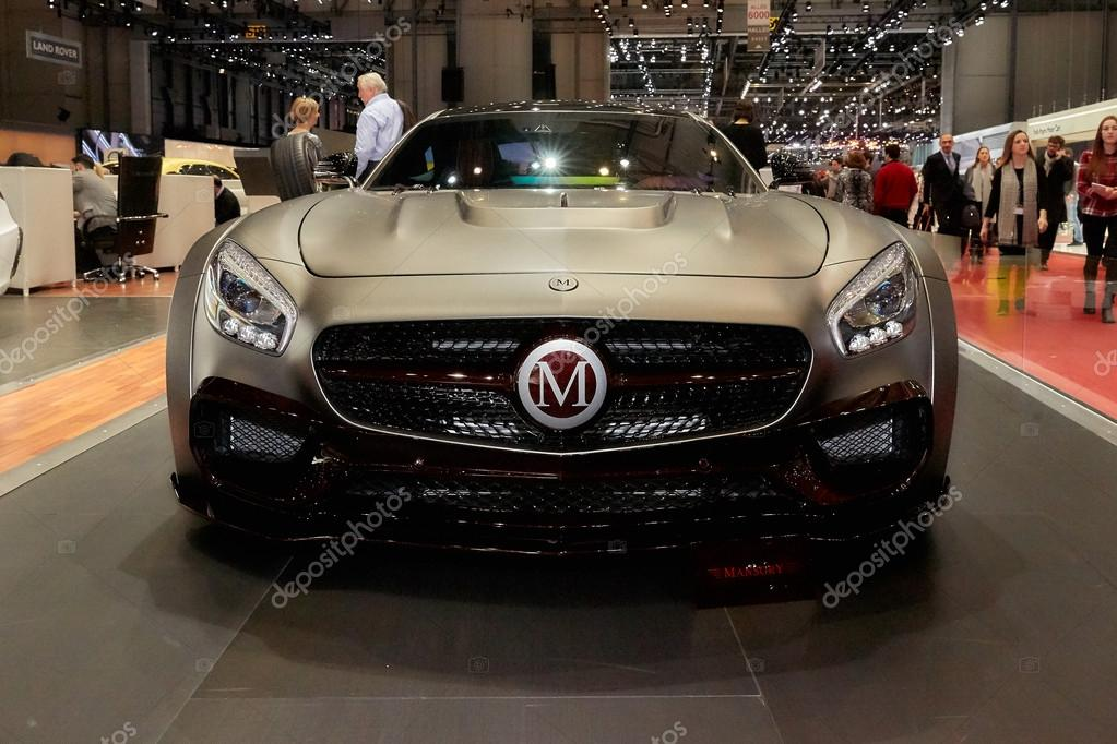 Geneva, Switzerland - March 1, 2016: 2016 Mercedes-AMG GT by Mansory presented on the 86th Geneva Motor Show in the PalExpo