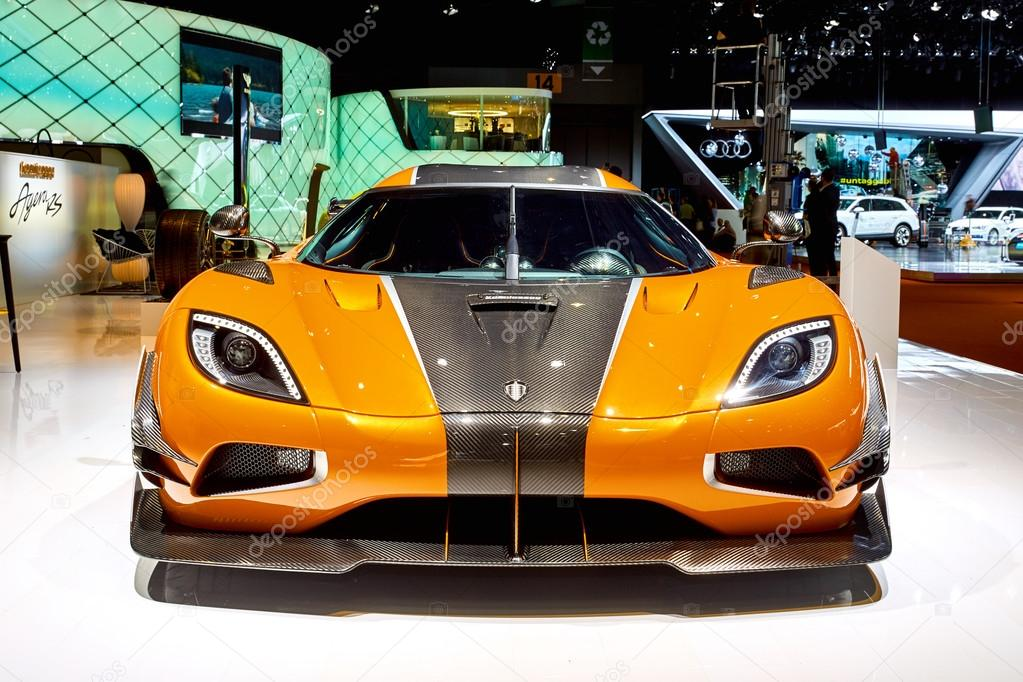 Geneva, Switzerland - March 1, 2016:  2016 Koenigsegg One of 1 presented on the 86th Geneva Motor Show in the PalExpo
