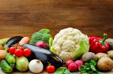 vegetables. tomatoes, potatoes, eggplant, zucchini, onion, carro