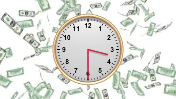 Time is Money - falling 100 USD - HD LOOP