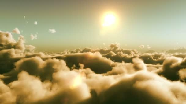 Letu nad mraky, čas západu slunce
