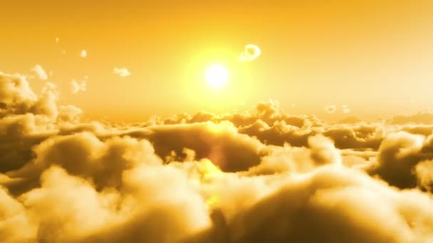 Letu nad mraky, žluté slunce